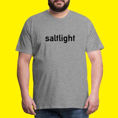 Saltlight // Black - Black - Men's Premium T-Shirt