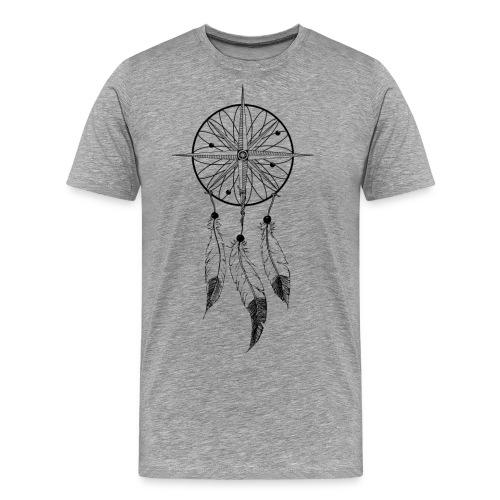 KOMPASS - TRAUMFÄNGER - FEDERN - Männer Premium T-Shirt