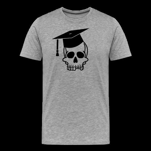 Schädel mit Doktorhut - Geschenk Examen, Prüfung - Männer Premium T-Shirt