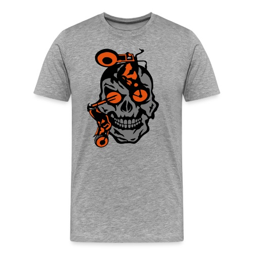 tete mort moto motrocycle oeil skull - T-shirt Premium Homme