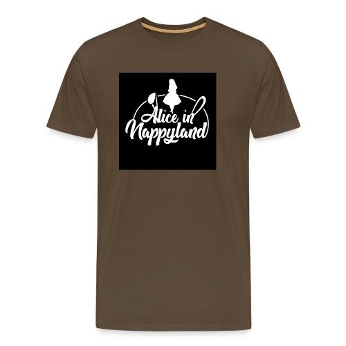 Alice in Nappyland TypographyWhite 1080 - Men's Premium T-Shirt