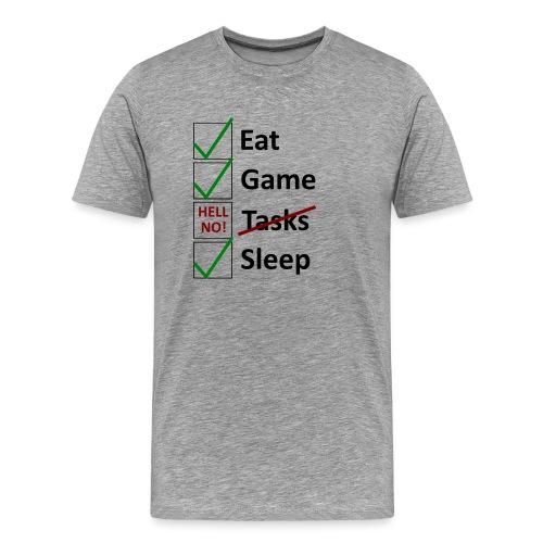 Schedule Shirt Black Version - Männer Premium T-Shirt