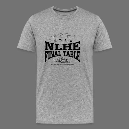NLHE finaalipöytä (1c musta) - Miesten premium t-paita