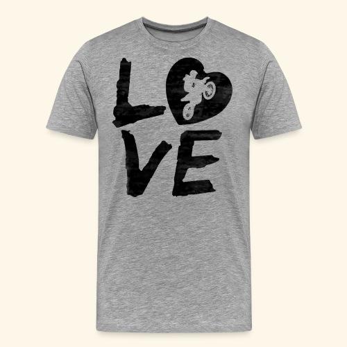 LOVE Motocross - Männer Premium T-Shirt