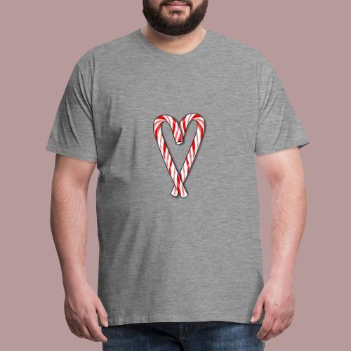 Sucre d'orge en forme de coeur - T-shirt Premium Homme