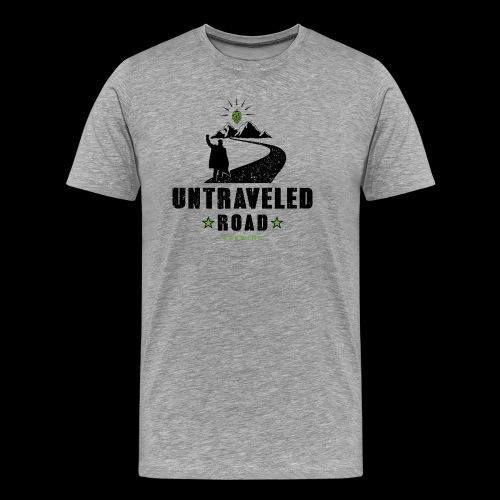 Untraveled Road Logo - black/small - Männer Premium T-Shirt