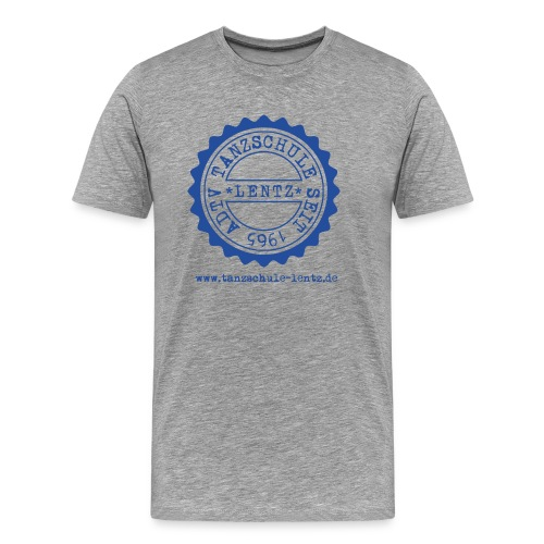 Lentz Wappen Logo Blau - Männer Premium T-Shirt
