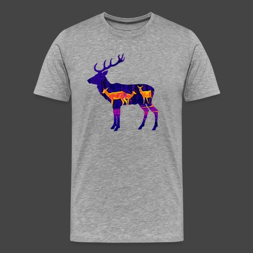 Wärmebildhirsch-Pixel-Shirt für Jäger - Männer Premium T-Shirt