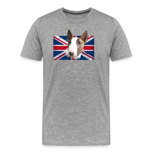 Bullterrier UK grunge Flag - Männer Premium T-Shirt