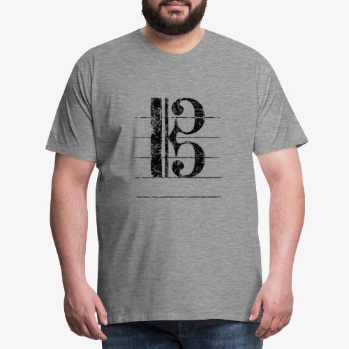 Tenorschlüssel - Notenschlüssel Cello / Posaune - Männer Premium T-Shirt