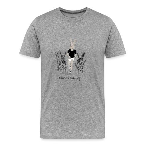 Lièvre running - T-shirt Premium Homme