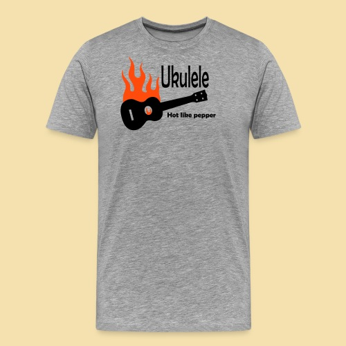 Ukulele Burning like pepper - Männer Premium T-Shirt