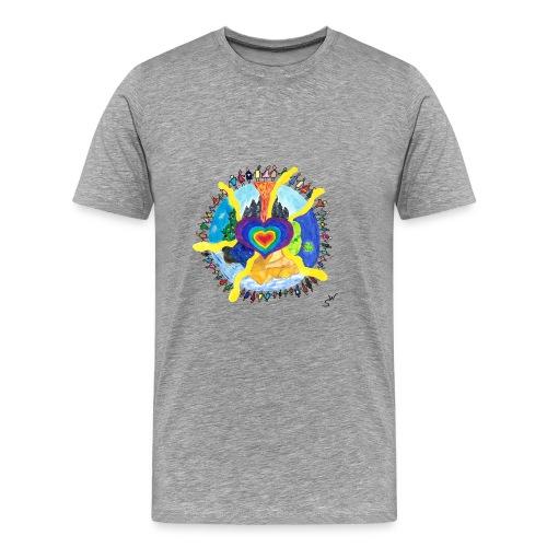 Herzwelt - Männer Premium T-Shirt