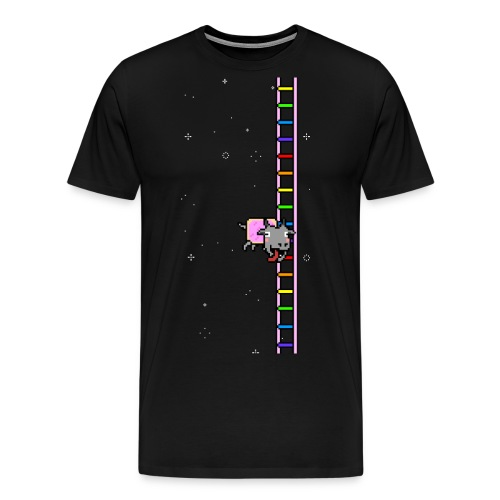 Flappy Goat In Space - Men's Premium T-Shirt