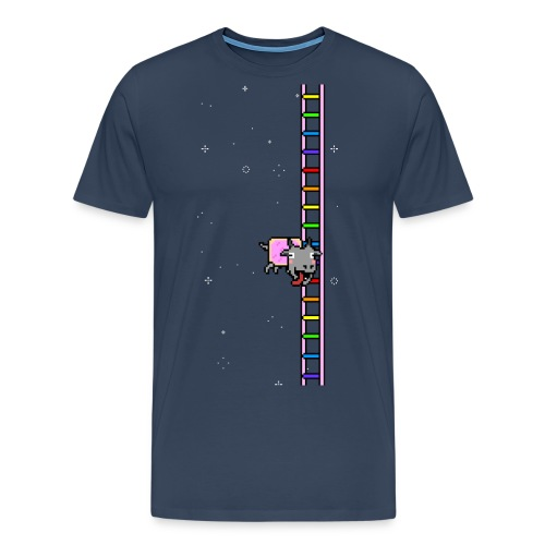 Flappy Goat In Space - Men's Premium T-Shirt