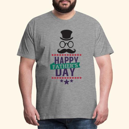 Happy Fathers Day Quote Image - Men's Premium T-Shirt