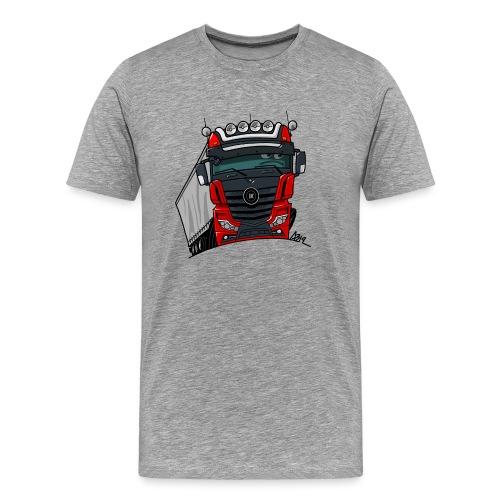 0807 M truck zwart rood - Mannen Premium T-shirt