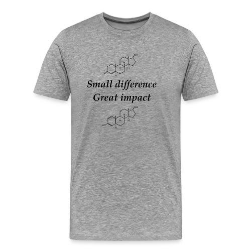 Testosterone vs Estrogen sort tekst - Herre premium T-shirt