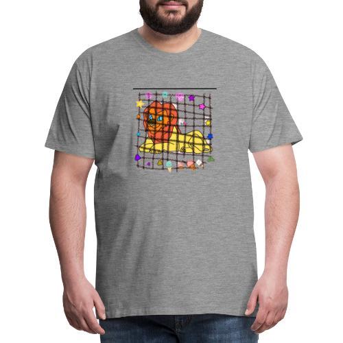 Lion dans son cage - T-shirt Premium Homme