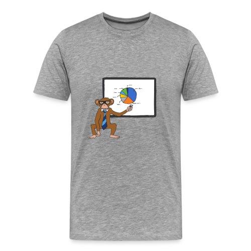 Aap houdt presentatie - Mannen Premium T-shirt