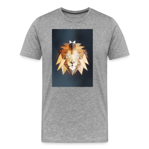 Polygon Lion - Männer Premium T-Shirt