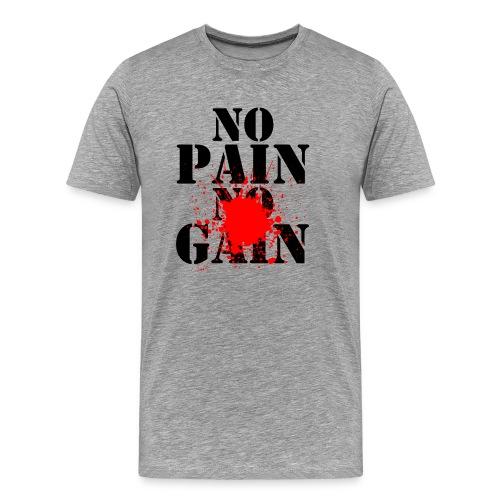 No pain No Gain - Herre premium T-shirt
