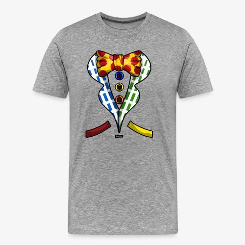 Clown Kostuem Knoepfe Fliege HARIZ Karneval Kostüm - Männer Premium T-Shirt