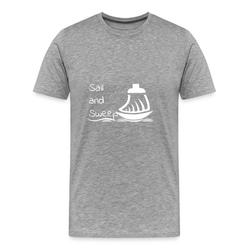 Sail and Sweep White - Men's Premium T-Shirt
