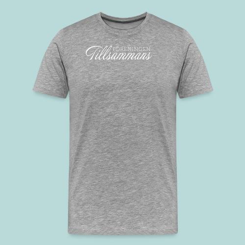 tillsammans vit 150906 png - Premium-T-shirt herr