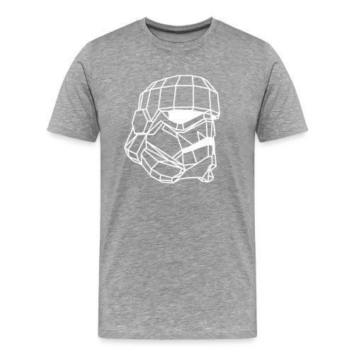 Male Stormtrooper Premium Geometrical sweater - Men's Premium T-Shirt