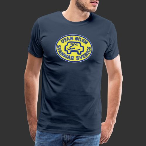 Utan bilen stannar Sverige färg - Premium-T-shirt herr