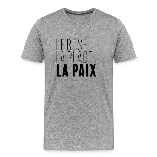 Le rosé, la plage, la paix - T-shirt Premium Homme