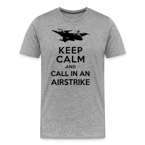 keep_calm_airstrike_black - Herre premium T-shirt