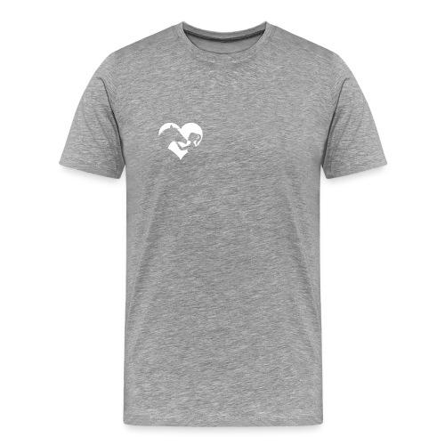 Horse Girlie Heart green - Männer Premium T-Shirt