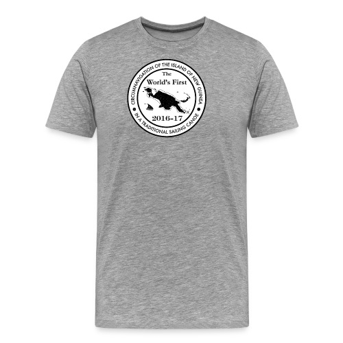The World's First Circumnavigation Stamp - Herre premium T-shirt