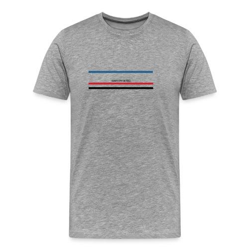 Always stay on track - Mannen Premium T-shirt