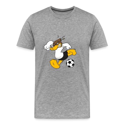 Fussball Ente Entchen ball Ente Tor - Männer Premium T-Shirt