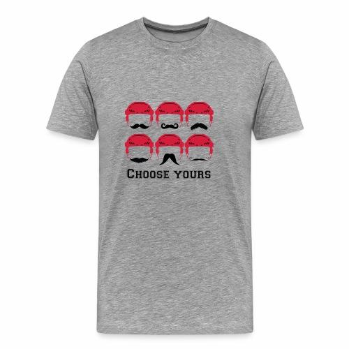 novembre et moustache - T-shirt Premium Homme