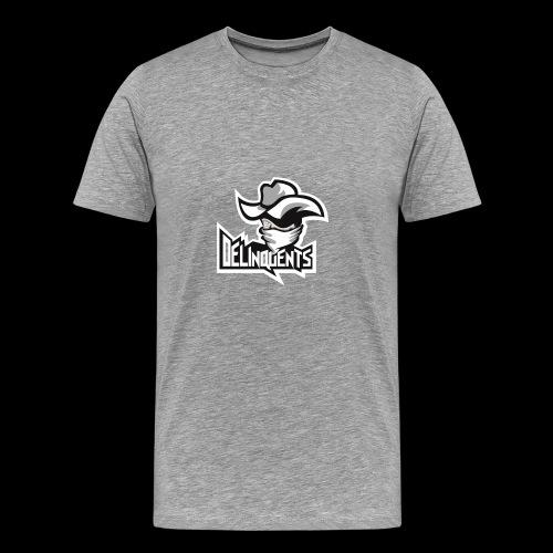 Delinquents Grå Design - Herre premium T-shirt