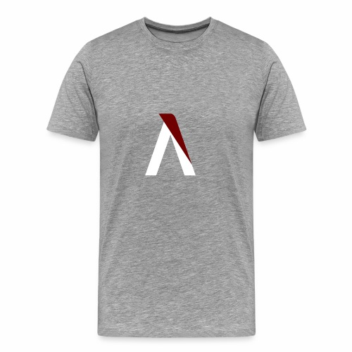 logo aog white and red - T-shirt Premium Homme