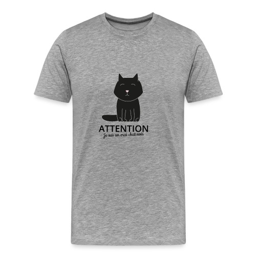 Chat noir - T-shirt Premium Homme