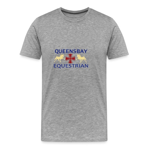 Queensbay Equestrian logo - Mannen Premium T-shirt