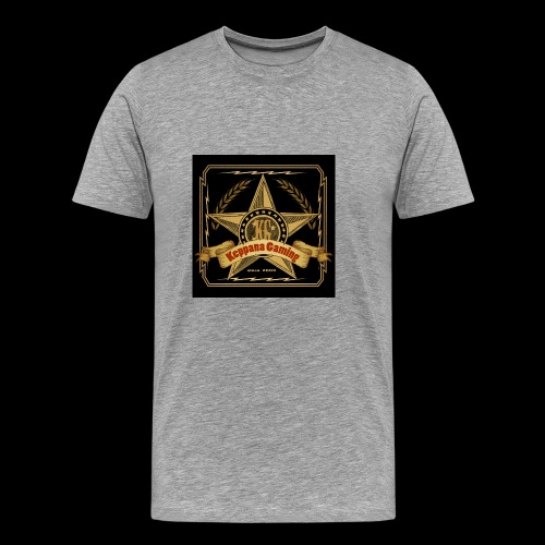 etiketti - Miesten premium t-paita