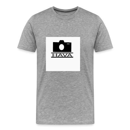 HAVA loggo svart vit - Premium-T-shirt herr