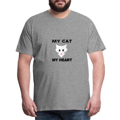 my cat my heart - T-shirt Premium Homme