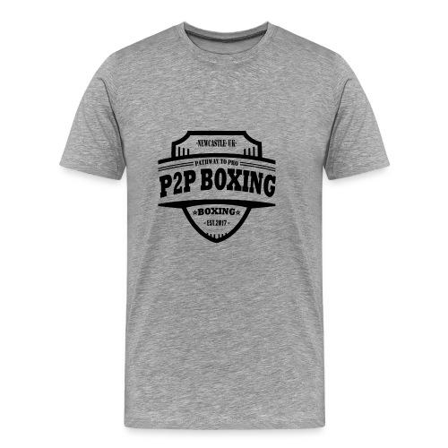 P2P Boxing Black Logo - Men's Premium T-Shirt