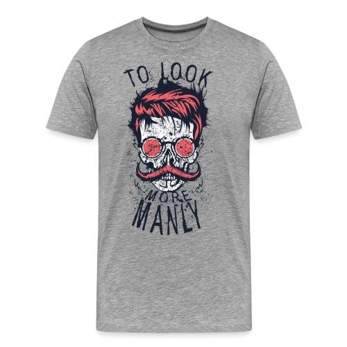 tete de mort crane hipster logo coiffure skull cit - T-shirt Premium Homme