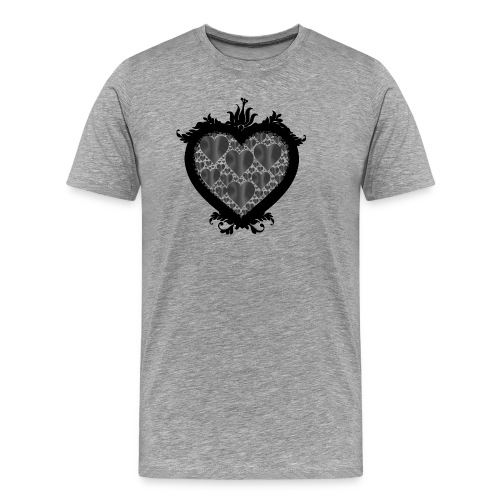 serce ramka - Koszulka męska Premium