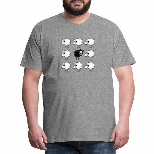 10-45 BLACK SHEEP - musta lammas lahjatuotteet - Miesten premium t-paita