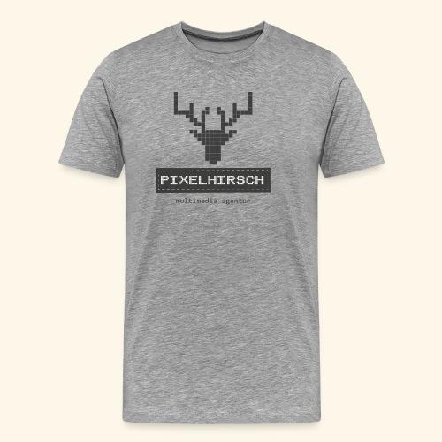 PIXELHIRSCH - grau - Männer Premium T-Shirt